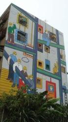 創意的彩繪牆面  吸引目光焦點